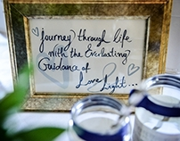 Handwritten welcome message for a special reception.
