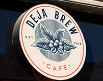 "Logo design for "" Deja Brew Cafe"""