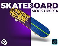4 high-Res Skate Board mock-ups