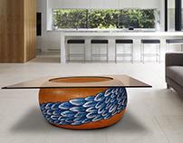 center table mesa de centro clay barro interior jardin