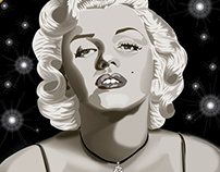 Marilyn digital illustration