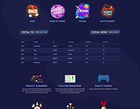 Crypto Gaming Site UI