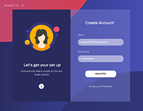 #Daily UI-01 #Sign up