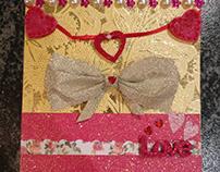 A romantic love card