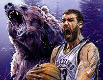 NBA- Marc Gasol Memphis Grizzlies.