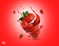 Photoshop - Strawberry Social Media Design