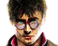 Harry Potter & the Deathly Hallows Digital Painting