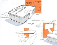 Packaging design sketches