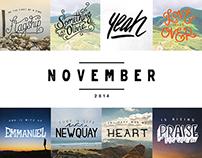 Daily Lettering | NOVEMBER