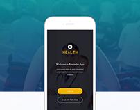 Patient Reminder (iOS) App Concept for HEALTH