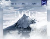 "FREE PSD MOVIE TEMPLATE ""Everest"""