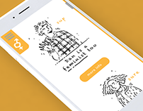 Educational app - design, illustration & concept