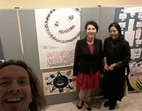 smile exibition  at UN in NYC October 8-16.2015