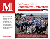 Fall 2014 Automotive Restoration Newsletter