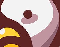 Chicken Mascot Logo Illustration
