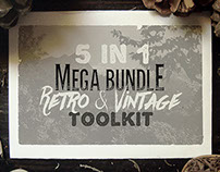 5in1 Mega Bundle v.19: Retro & Vintage Kit