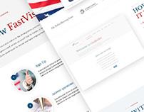 US immigration forms website design