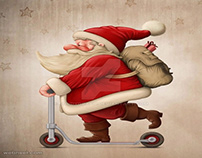 Funny Santa Claus Pictures and Digital Artworks