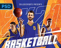 Basketball Game Flyer - PSD Template