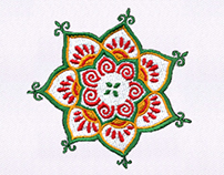 IMAGINATIVELY DETAILED FLOWERS EMBROIDERY DESIGN
