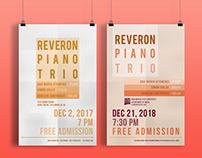 POSTERS DESIGN - REVERON PIANO TRIO (2017-2018)