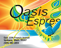 Oasis Espresso Credit Card Design