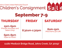 Consignment Sale | Promotional Materials