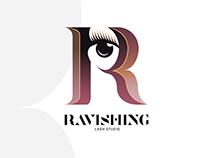 Ravishing Lash Studio Logo Design
