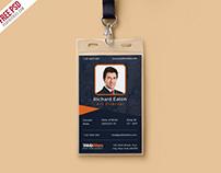 Free PSD : Vertical Company Identity Card Template PSD