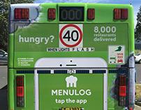 Menulog Bus Wrap