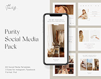Purity Social Media Pack – Instagram/Facebook Templates