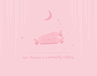 Pink Candy Cute Aesthetic Twitch Overlay Design