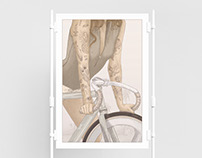 Girls on bikes - Prints