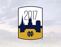 2017 Notre Dame Football Season Logo