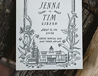 Catskills Wedding Invitation Suite