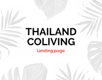Thailand coliving landing page
