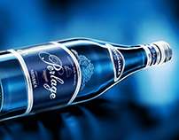 Perlage glass bottle