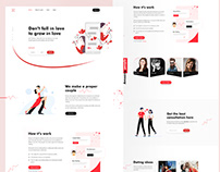 Love - Dating site landing page design