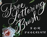 Free Procreate Brush: A Lettering & Calligraphy Freebie