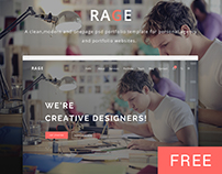 RAGE - Digital Agency PSD Template | Freebie
