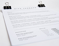 Clean One Page Resume 02
