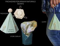 Packaging for Aranya naturals' scarfs