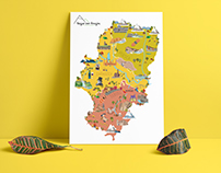 ILLUSTRATED MAP - Aragón