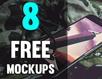 8 FREE Phone Mock-up PSD's
