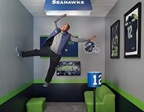 Seahawks Anti Gravity Photo Op (American Express)