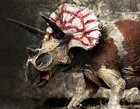 Triceratops making