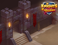 "Isometric dungeon for ""Knights&Brides"" game"