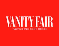 Vanity Fair Spain website redesign
