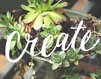Create - Cut paper lettering