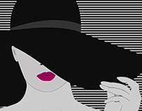 Pink Lips & Floppy Hat